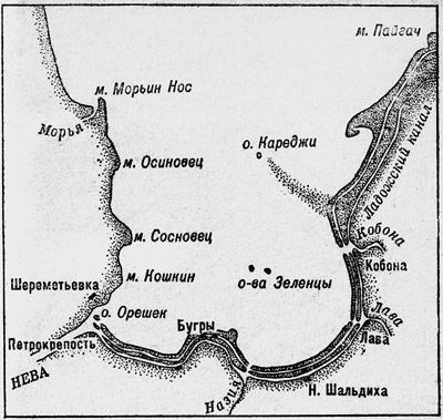 Карта-схема Шлиссельбургской